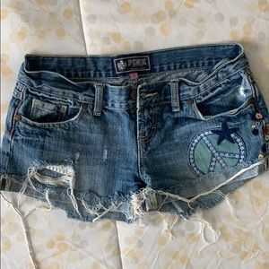 PINK Denim Cut-Off Shorts.